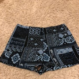 Urban Outfitters Blue Patterned Shorts